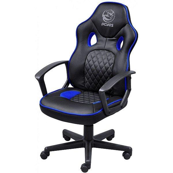Cadeira de escritório Pcyes Mad Racer STI Master gamer blue