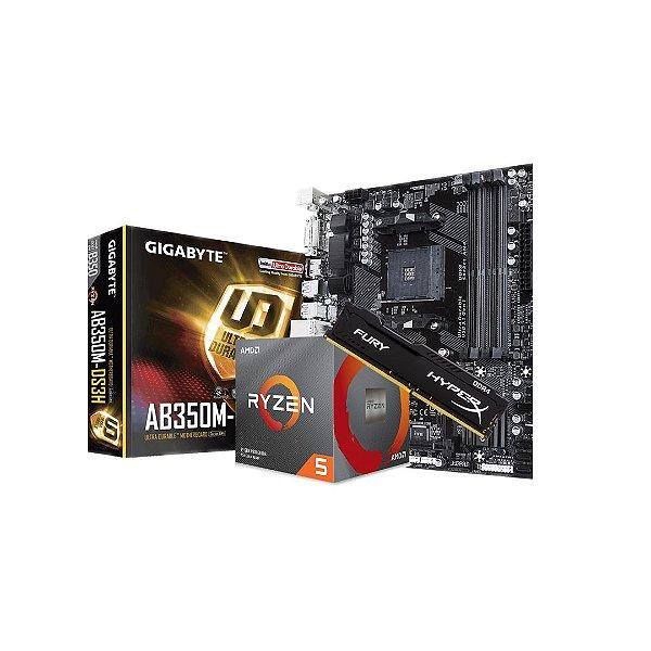 Kit Upgrade AMD -Ryzen 5 3500 (4.1GHz Turbo), 6-Cores 6-Threads) / Gigabyte GA-AB350M, AMD AM4 / HyperX Fury, 8GB, 2666MHz, DDR4