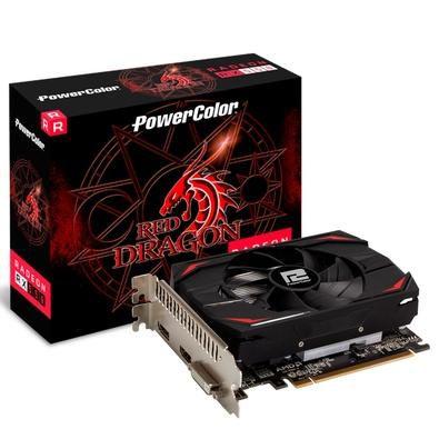 Placa de Vídeo PowerColor, Radeon, RX 550 Red Dragon, 2GB, GDDR5, 64Bit, AXRX 2GB64BD5-DH