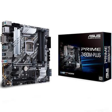 PLACA MAE ASUS PRIME Z490M-PLUS DDR4 USB 3.2 M.2 MATX LGA 1200