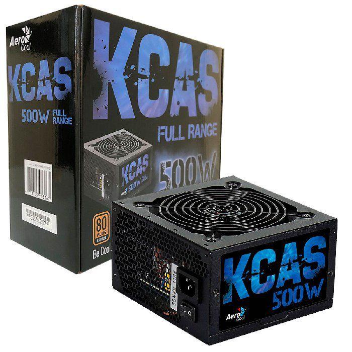 Fonte Gamer Aerocool KCAS 500W 80 Plus Bronze Full Range PFC Ativo