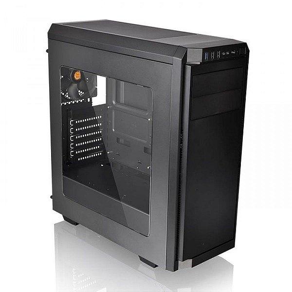 Gabinete Gamer ThermalTake V100, Mid Tower, Black, ATX, Sem Fonte, Com 1 Fan