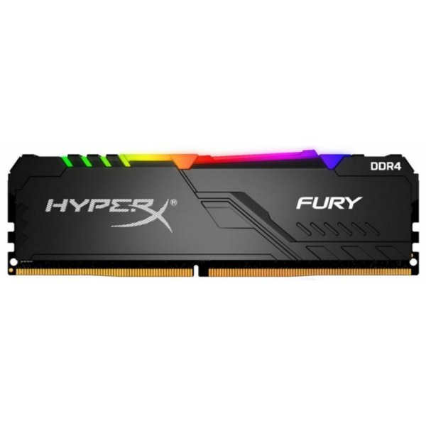 Memória DDR4 Kingston HyperX Fury RGB, 16GB 3200MHz, Black