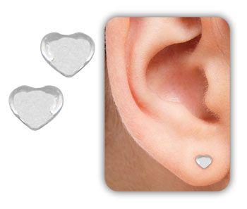 Brinco folheado a prata mini coração  - BS2877 P