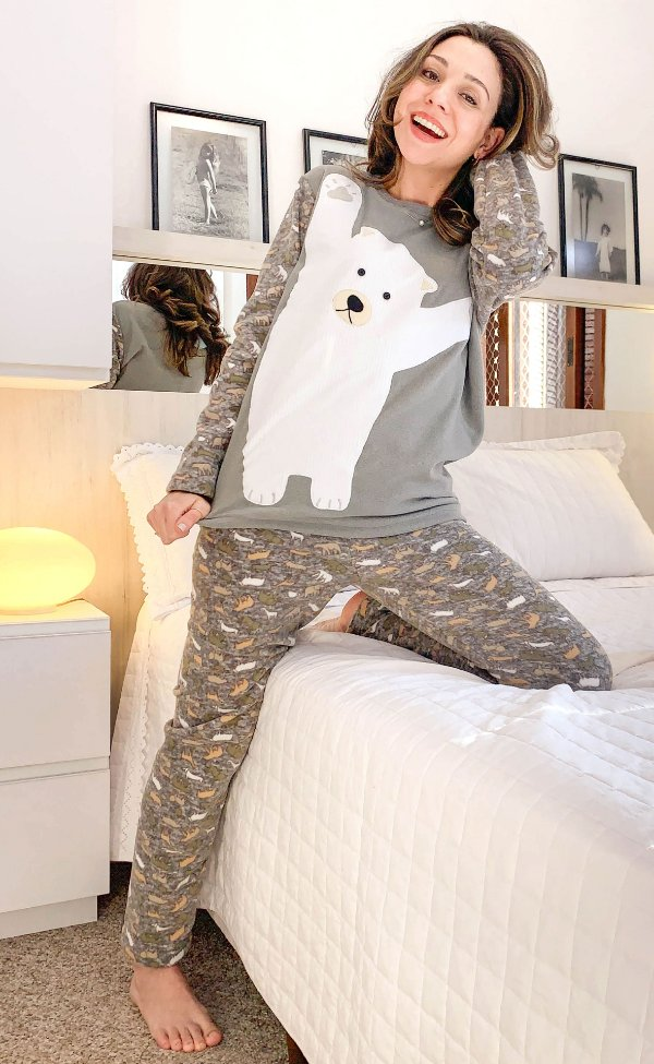 Pijama Inverno Soft Feminino Urso Polar