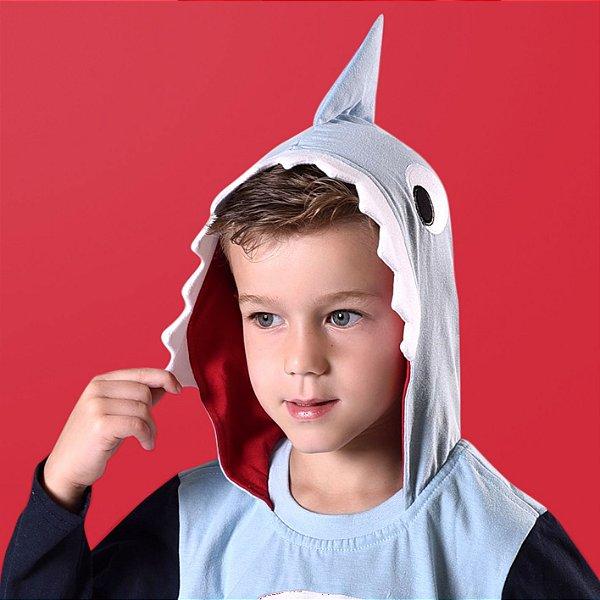 Pijama Longo Baby Shark Tubarão Infantil