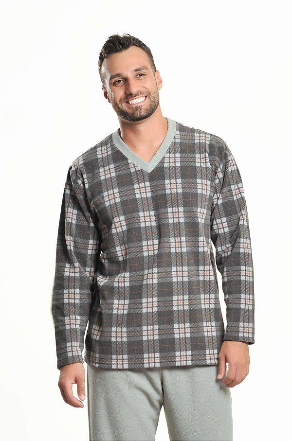 Pijama  masculino de inverno soft xadrez V