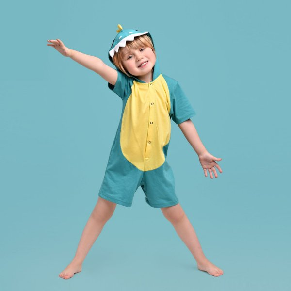 Pijama Fantasia Curta Infantil Dinossauro Rex