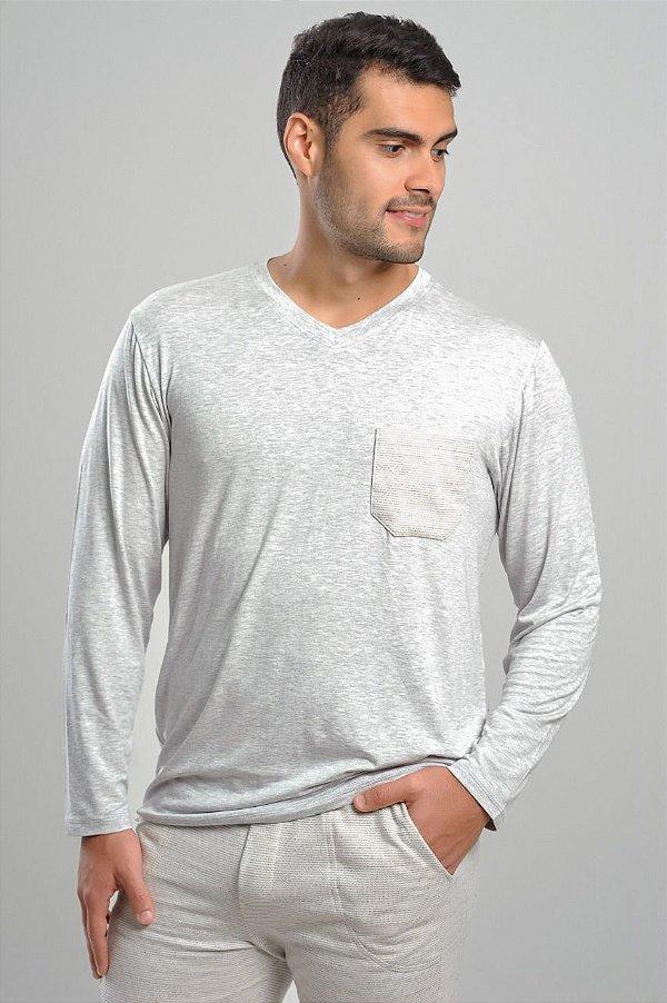 Pijama Homewear Agasalho casal com bolso