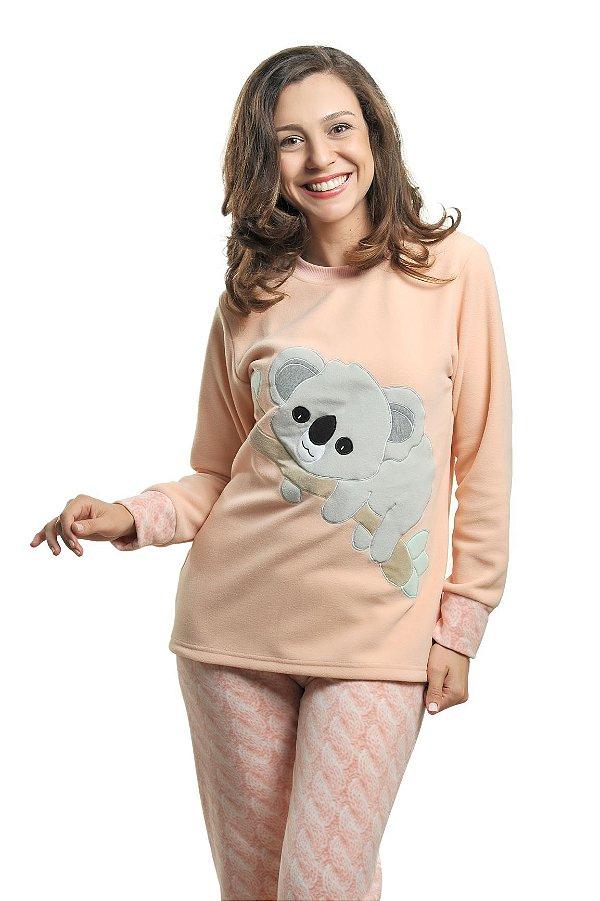 Pijama Inverno Soft Coala Mãe - Modelo Família