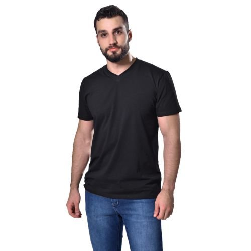 Camiseta Básica Curta Masculina Preta