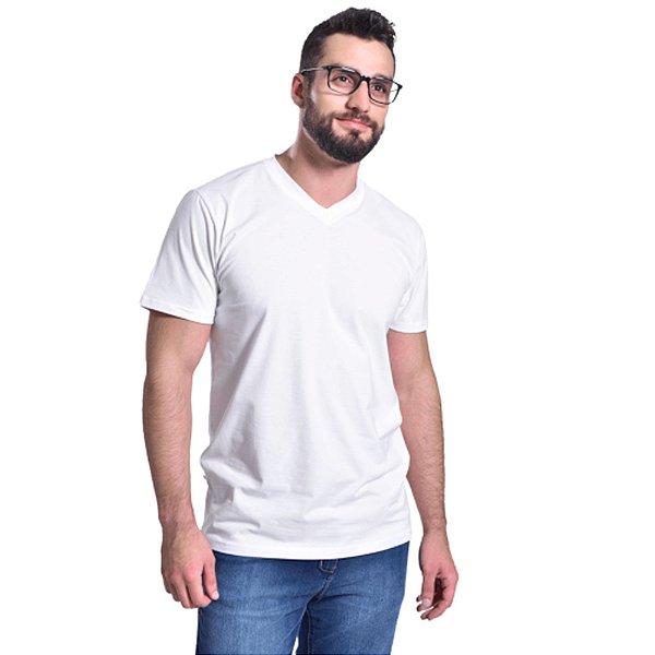 camiseta básica curta masculina branca