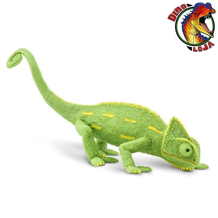 CAMALEÃO DO IÊMEN FILHOTE SAFARI LTD BRINQUEDO INCREDIBLE CREATURES MINIATURA DE LAGARTO