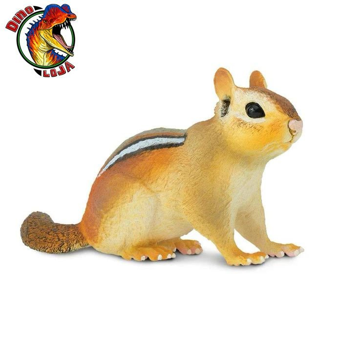 TÂMIA ESQUILO SAFARI LTD INCREDIBLE CREATURES MINIATURA DE ANIMAL CHIPMUNK