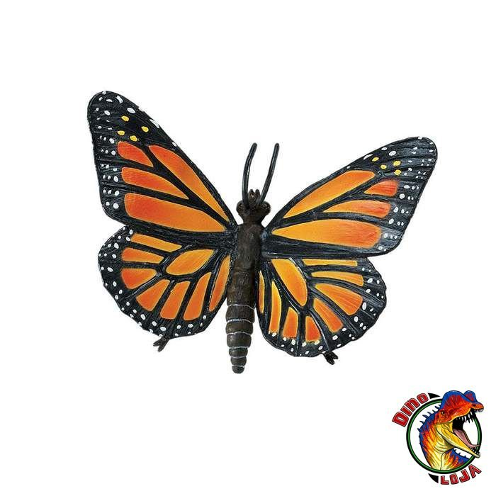 BORBOLETA MONARCA SAFARI LTD INCREDIBLE CREATURES MINIATURA DE INSETO
