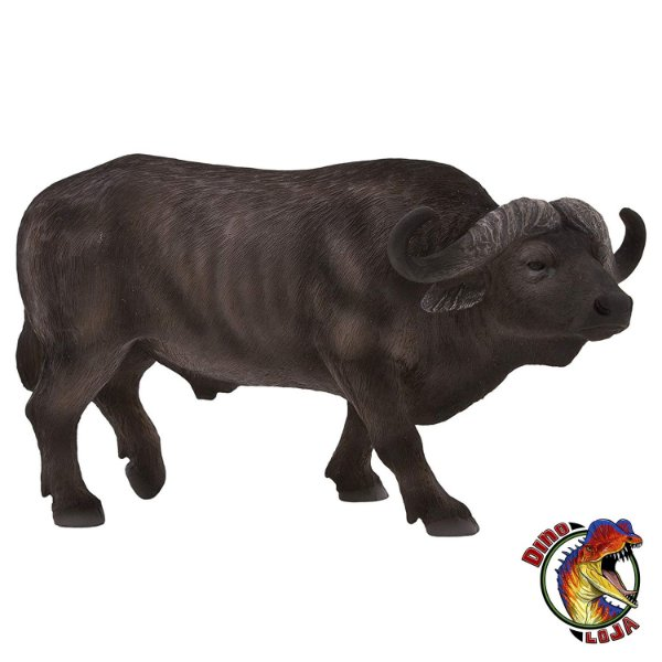 BÚFALO AFRICANO MOJO FUN RÉPLICA DE MAMÍFERO ANIMAL SELVAGEM BONECO COLECIONÁVEL