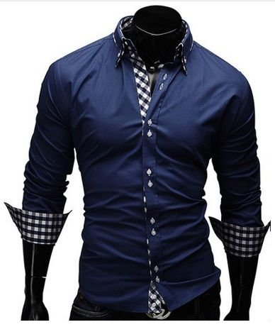 Camisa Social Masculina Slim Fit Estilo Alemão