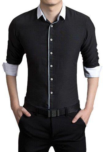 Camisa Social Slim Fit Lançamento Estilo Reino Unido