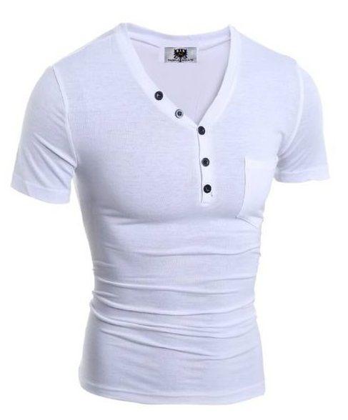 Camisa,camiseta Slim Fit Gola V Estilo Frances Original