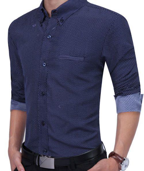 31a70b4e1 Camisa Social Lançamento Slim Estilo Inglês De Bolinha - Lojas Norton