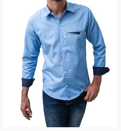 Camisa Jeans Sarja Estilo Italiano Slim Noblemen's