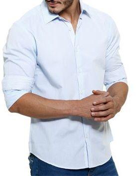 Camisa Masculino Manga longa Branco Liso Noblemen's