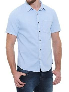 Camisa Masculino Manga Curta Jeans Leve Noblemen's