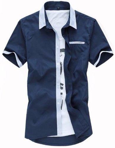 Camisa Social Lançamento 2 Cores Slim Fit.