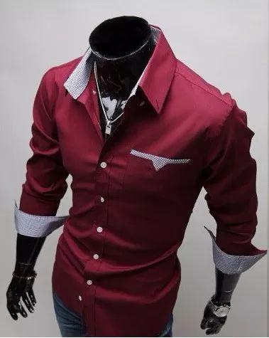 Camisa Social Slim Fit Estilo Ocidental 2017