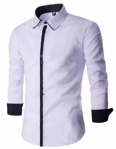 Camisa Social Slim Fit Estilo Bulgária.