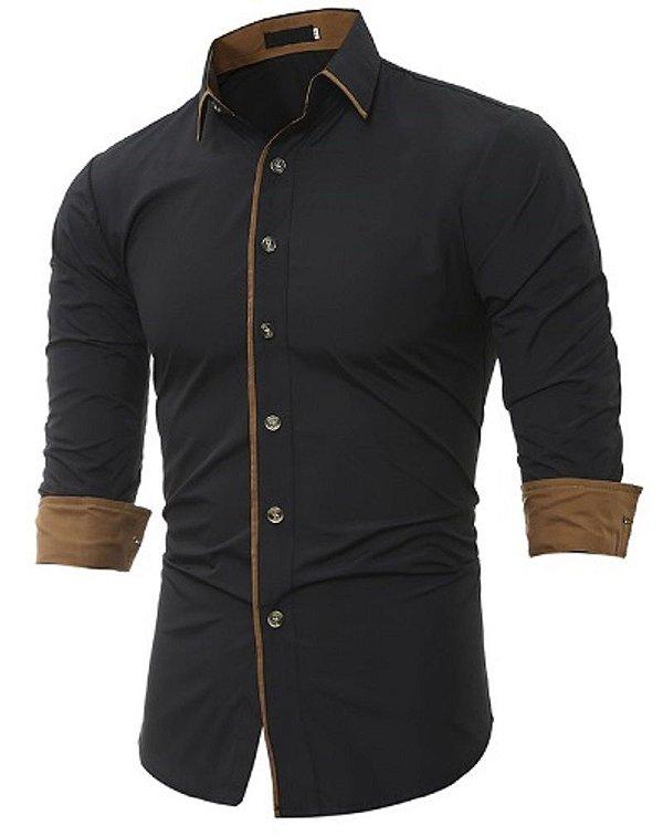 Camisa Social Slim Fit Estilo Abu Dhabi