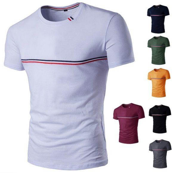 Camiseta Slim Manga Curta Estilo França