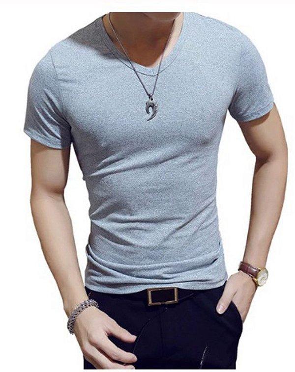 Camiseta Slim Basic Estilo Coreano
