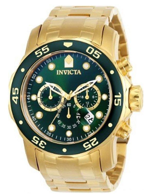 Relógio Invicta Pro Diver 0075 Banhado Ouro 18k