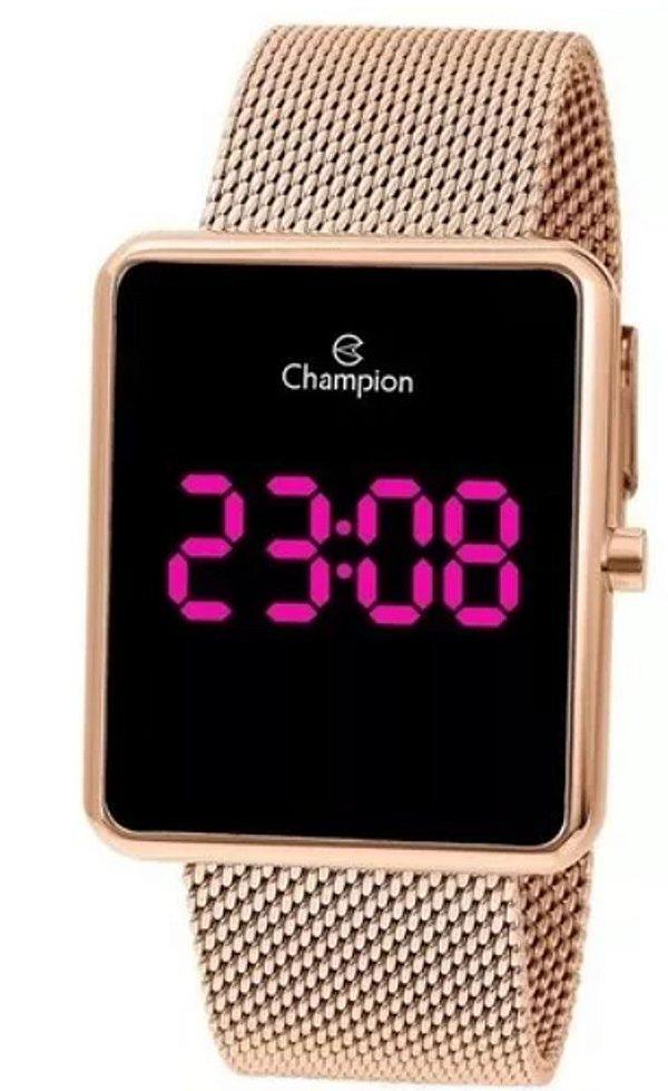 Relógio Digital Feminino Champion Rosê Quadrado