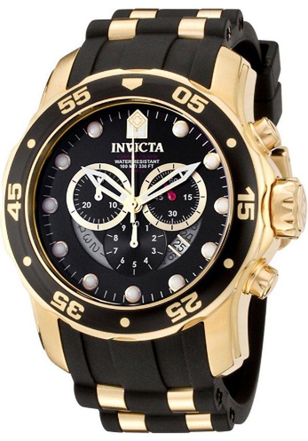 Relogio Invicta 6981 Banhado Ouro 18 K Original Pro Diver
