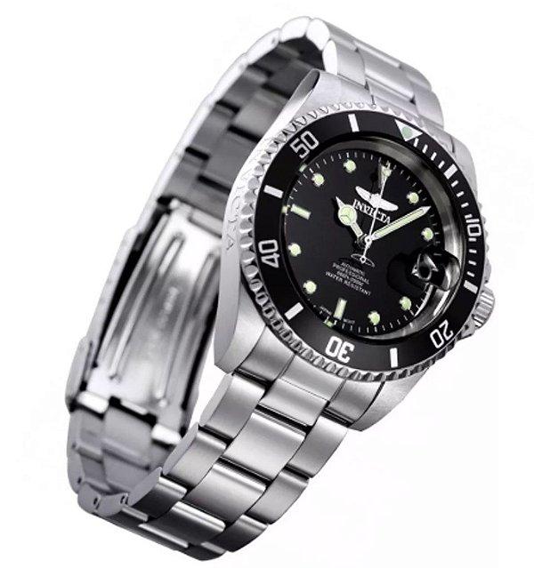 Relógio Masculino Prata Invicta Pro Diver Automático 8926ob