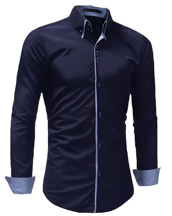 Kit 2 Camisa Slim Masculina Estilo Londres