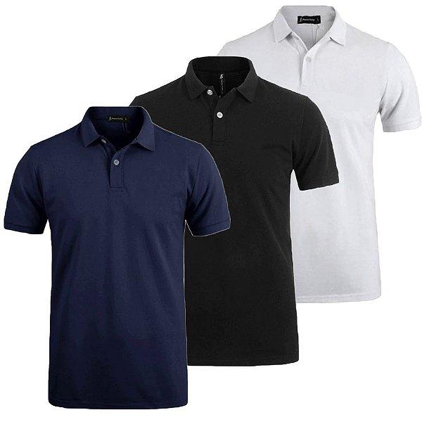 Kit 3 Camisa Polo Slim Estilo New York