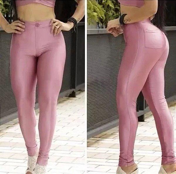 Calça Disco Feminina Hot Pants Legging Cirre