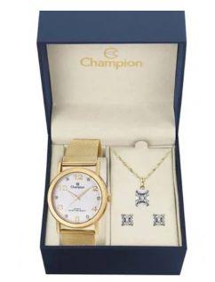 Relógio Champions Analógico Dourado CN29034W Original