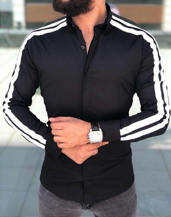 Camisa Social Slim Masculina Estilo Paris