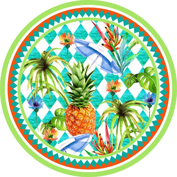 Canga Redonda Abacaxi Tropical