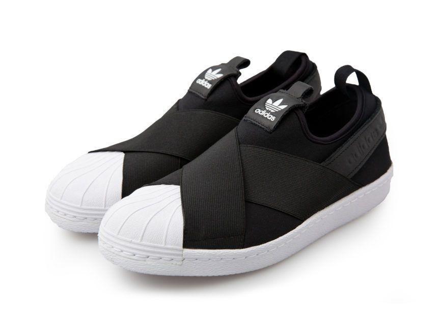 Tênis Adidas Superstar Slip On Unissex - PRETO