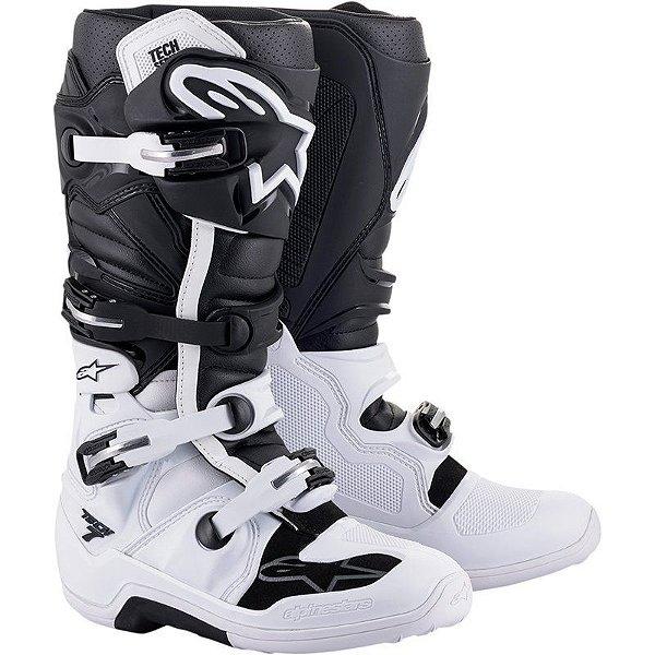Bota Alpinestars Tech 7 Black And White