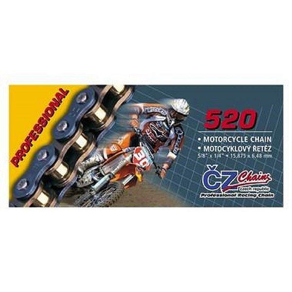 Corrente de Transmissão 520H X 118 Cz Chain Professiona Elos S/Retentor