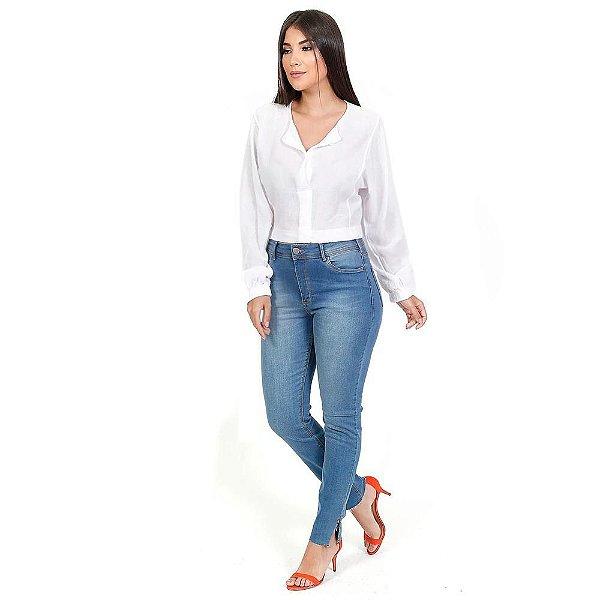 Calça Jeans Skinny com elastano