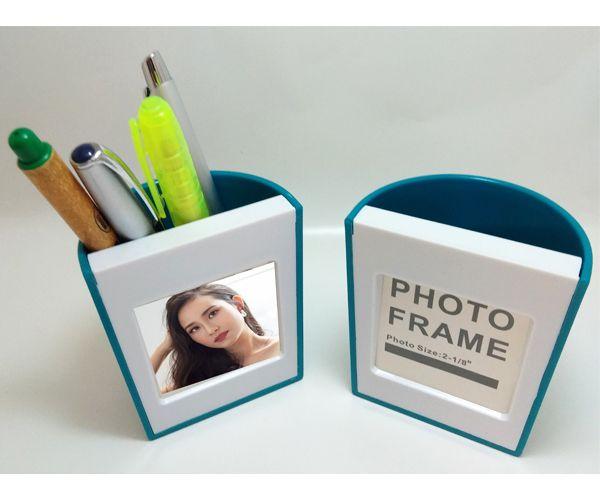 Porta canetas, com porta fotos e porta trecos