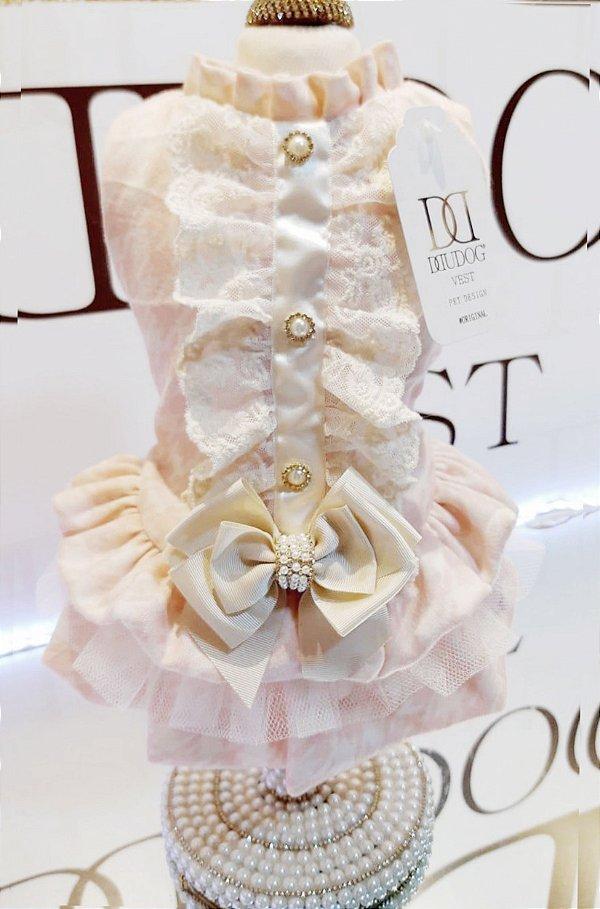 Vestido Pied de Poule Tricô