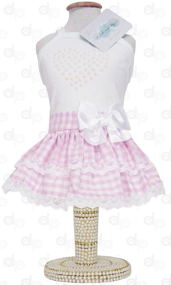 Vestido Camponesa Rosa